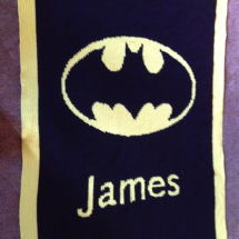 customer-crochet-art batman james blanket