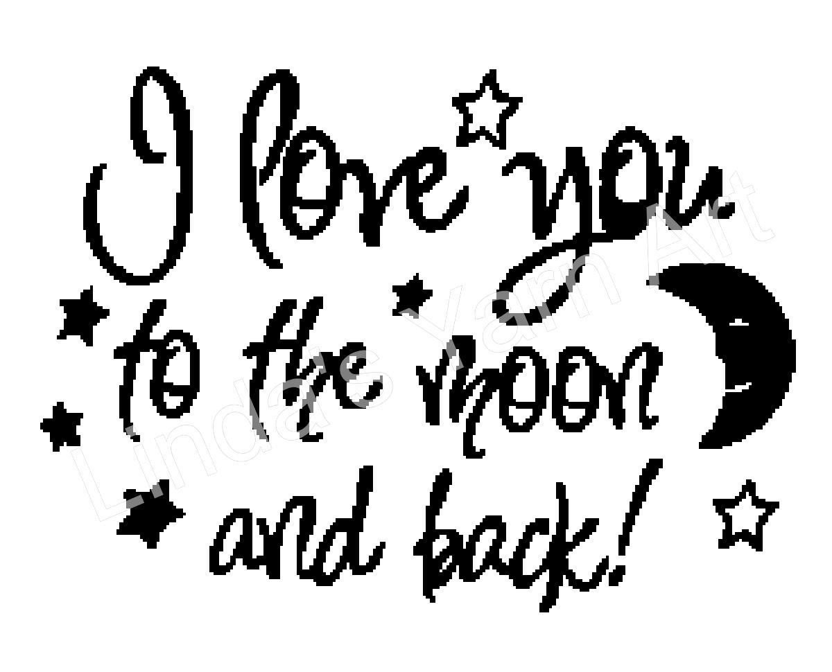 you to the moon and back b w s yarn